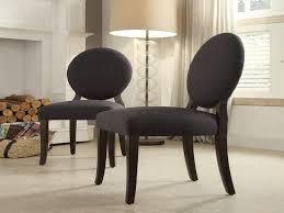 Round Back Dining Chairs Best Of Inspire Q Paulina Dark Grey Fabric Round  Back Dining Chair Set Of 2 Overstock