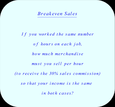 compare two job offers breakeven commission s explanation