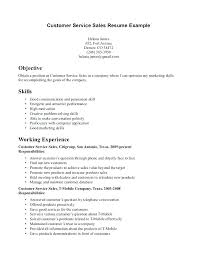 Examples Of Problem Solving Skills In Customer Service Resume Objective Statement For Customer Service Sample And