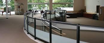 interior glass railing systems segmented radius custom glass interior glass railing systems cost
