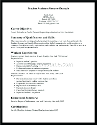 Sample Teacher Assistant Resume Here Are Teacher Assistant Resume Sample For With Experience
