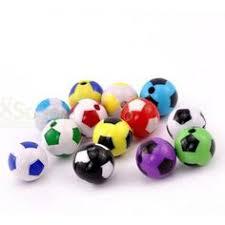 Wholesale <b>20PCs Mixed</b> Soccer Round Acrylic Sports Charm Beads ...
