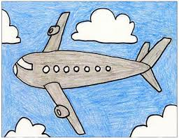 airplane drawing for kids. Contemporary Drawing Knowing How To Draw An Airplane Can Come In Handy For Many Different  Reasons This Plane Drawing Kids Has Worked Well My Students Over The Years Intended Airplane Drawing For Kids