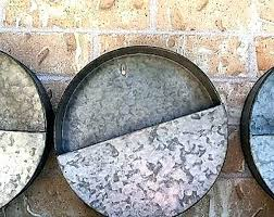 round wall planter galvanized wall pocket planters galvanized wall bucket wall hanging wall pocket round wall