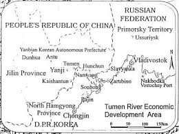 photo essay fangchuan where and russia  map tumen river joint development area arase 1999