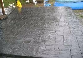 stamped concrete patio vs pavers i like this not sure what the color and release color are