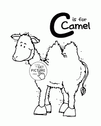 Letter C Alphabet Coloring Pages For
