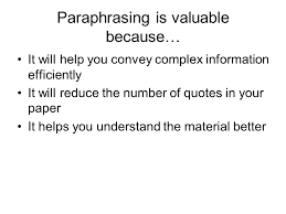 paraphrasing effectively and using in text citations ppt 3 paraphrasing