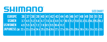 Shimano Shoe Size Chart Qopo