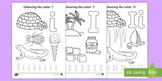 In english and spanish, uppercase and lowercase. Letter I Coloring Pages Teacher Made