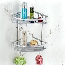 Plastic Corner Shower Shelves Corner Shower Storage Aluminum Home Hook Shower Storage 100 Layer 90