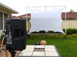 large outdoor projector screens front or rear projection 10 backyard screen diy