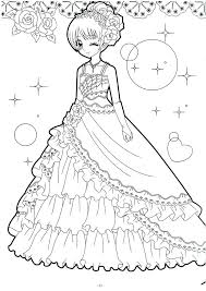 Anime Girls Coloring Pages Domlinkovinfo