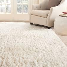 Delighful Modern White Area Rug Shag Rugs For Home Interior Design Inside Impressive