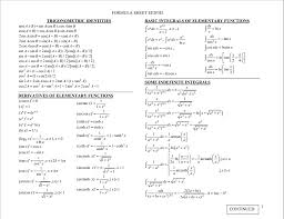 my electromagnetics formula sheet