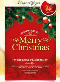 Free Christmas Flyer Templates Download 30 Best New Year And Christmas Free Flyers Psd Templates For