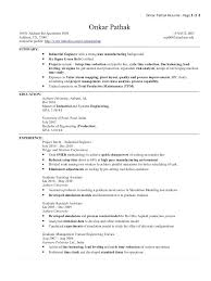 Industrial Engineer Resume Sample Electrical Engineer Resume