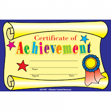 Achievement Certificate Kids Certificates Certificate Of Achievement Awards Free Delivery