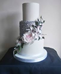 3 Tier Wedding Cakes Classic Cakescom Sugar Flowers Naked Cakes