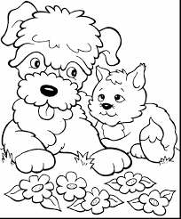 Small Picture Puppy Cat Coloring Pages Coloring Coloring Pages