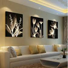 living room decorative painting modern sofa background flower design wall painting unframed canvas paintings wall art