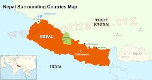 where is nepal located on map, nepal map in asia and world Nepal India Map nepal and its neighboring countries nepal india border map