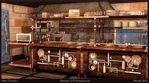 design for Industrial / Steampunk kitchen