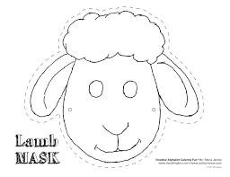 Face Masks Templates Sheep Mask Template Buscar Con Google Pinteres 6
