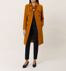 eleanora trench coat ochre