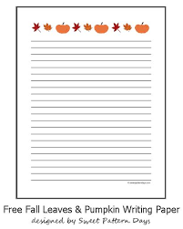 best writing paper images printable  printable fall themed writing paper