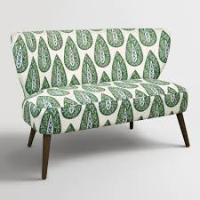 Small Bedroom Chairs For Adults Chairs Kelly Green Bindi Kenway Upholstered Loveseat Solid Pine