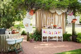 food sweet table from a first birthday garden party via kara s party ideas karaspartyideas