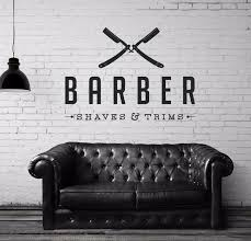 Small Picture Vinyl Wall Decal Sticker Bedroom Barber shop COMPANY NAME hair