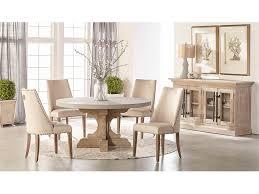 bastille round dining table w concrete top set