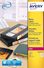 Avery Video Spine Label Laser 145x17mm L7674 25 400 Labels