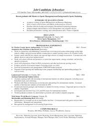 Sports Resume Sample Download Now Graduate Marketing Cover Letter