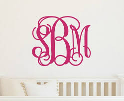 monogram wall decal monogram wall decor