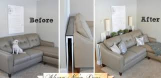 Diy sofa table Narrow No Room For End Tables Make This Diy Sofa Table Tiphero How To Make Sofa Table To Fit Your Living Room Tiphero
