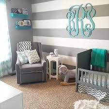 Stripes, Chevron and Monograms OH MY! Thanks so much for sharing Ali  Reynolds. Share your nursery by tagging us! We'd love to see it.
