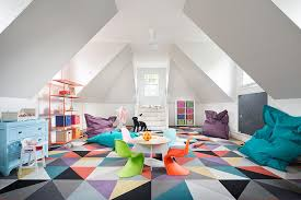 attic playroom with flooring that replaces the traditional rug design stone creek builders