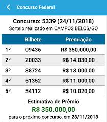 Resultado Loteria Federal 24/11... - Lotérica Nova Real