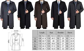 Mordenmiss Mens Wool Single Breasted Winter Trench Jacket Woolen Pea Coat