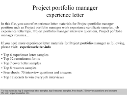 Interview questions and answers  free download/ pdf and ppt file Project  portfolio manager experience ...