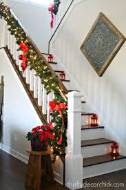 Simple, classic Christmas stairs