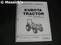 kubota l3010 parts l3010 l3410 l3710 l4310 l4610 owners manual