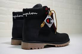 champion x timberland premium 6 inch leather boots a1ucr champion black gum men s waterproof boot