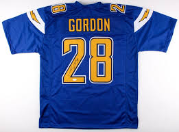 Coa Signed Rush Color jsa Jersey Chargers Gordon Melvin