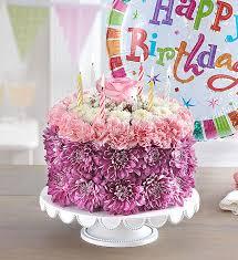 Birthday Wishes Flower Cake Pastel 1800flowerscom 148666