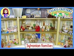 sylvanian families calico critters house tour cloverleaf manor grand hotel kids toys you
