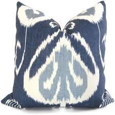 indigo ikat decorative pillow cover kravet bansuri x